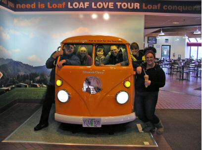The Lowe Family visiting the Tillamook Cheese Factory